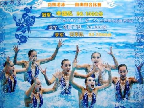 2017年世界水泳選手権・シンクロナイズドスイミングの成績結果から=第763号: 「中国体育・スポーツ」ウォッチャー