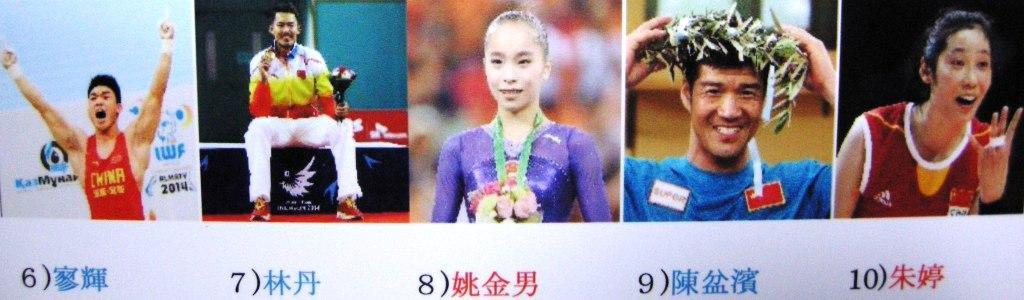 2014年・中国スポーツ選手のベス...